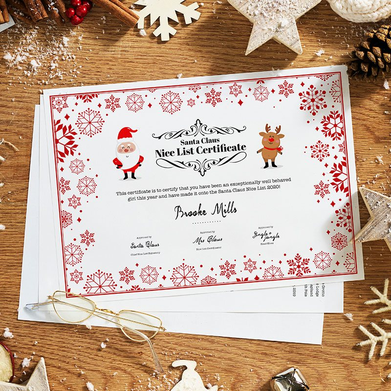 Traditional Write Your Own Santa Letter